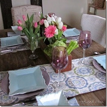 Spring Table setting for bunnies