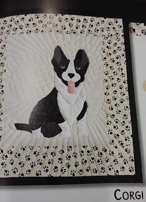 Panel patchwork, Perro raza Corgi