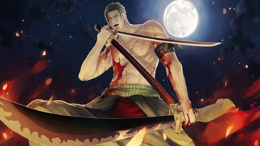 Zoro, Katana, Sword, One Piece, 4K, #6.83