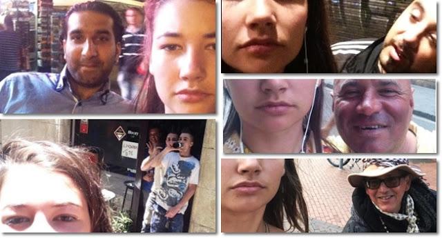 """Cansada de receber cantadas nas ruas, a estudante holandesa Noa Jansma, de 20 anos, decidiu reagir, mas de um jeito diferente: registrar selfies dela com os agressores.  Durante um mês, Jansma, que mora em Amsterdã, registrou as imagens, que postou em uma conta no Instagram (""""Dearcatcallers"""", ou """"Queridos assediadores de rua"""", em tradução livre)."""