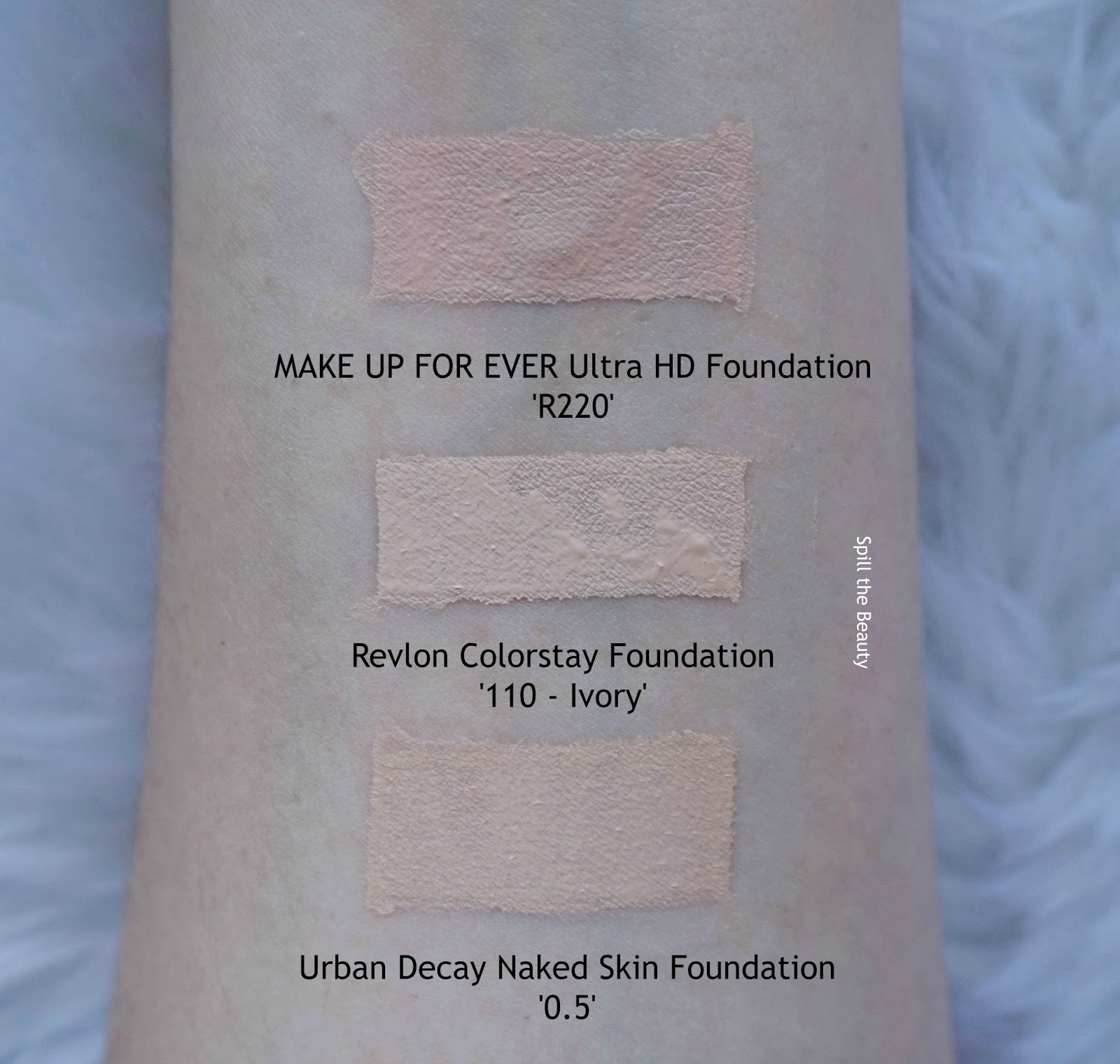 evlon colorstay combination oily foundation review swatches comparison 110 ivory before and after urban decay make up for ever ultra hd
