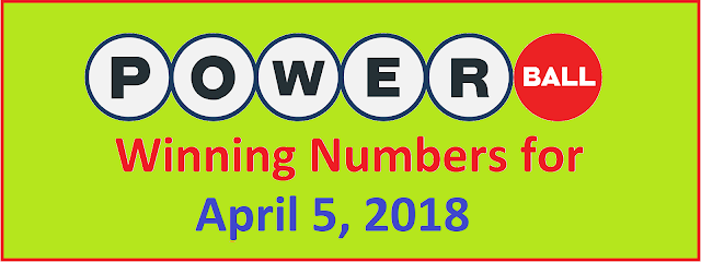 PowerBall Winning Number for Thursday 04 April 2018