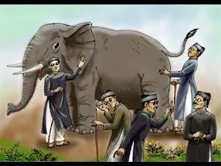 Ý nghĩa thành ngữ thấy bói xem voi có nghĩa là gì?
