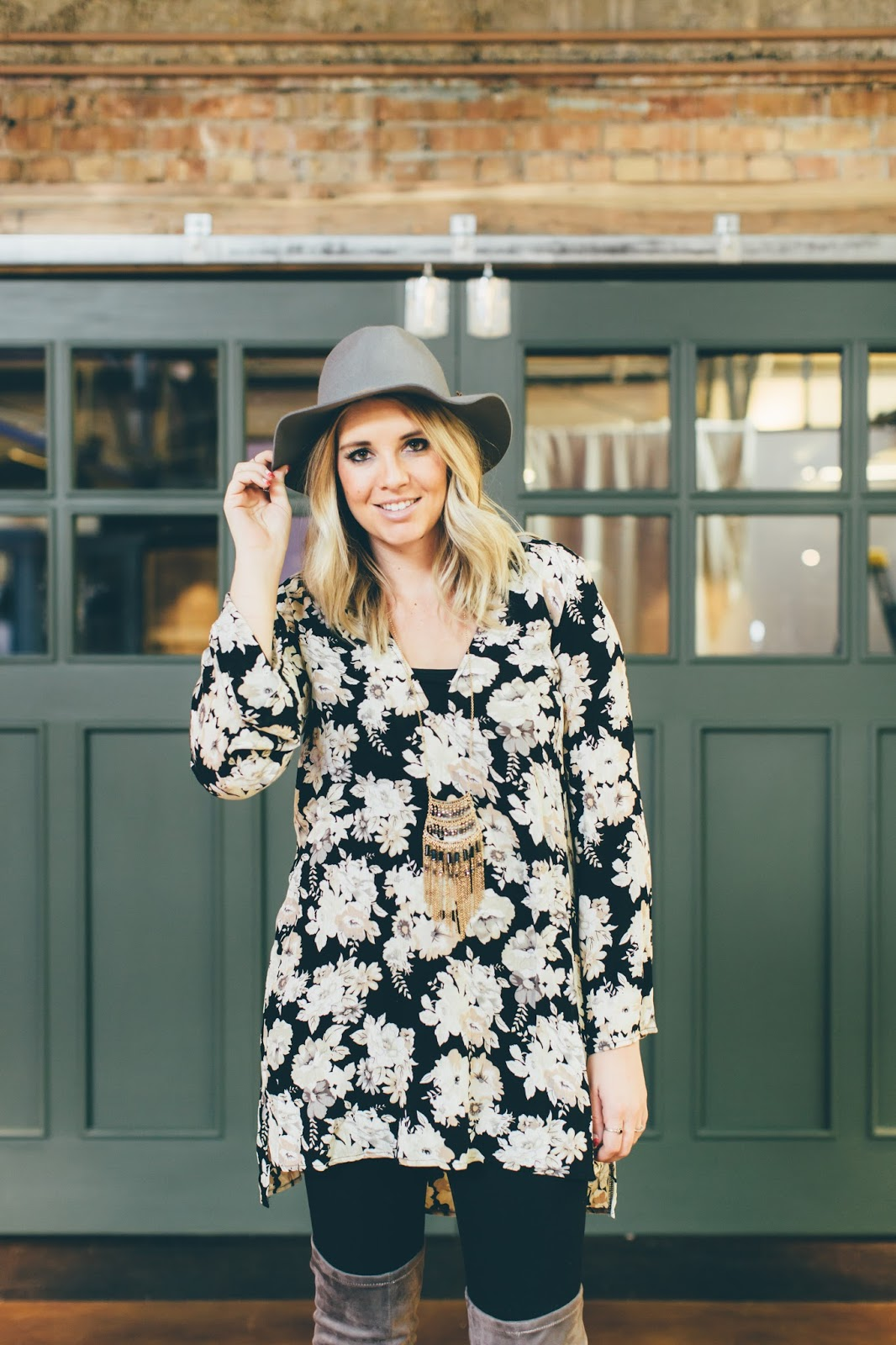 Goldies, Floral Tunic, Fashion Blogger