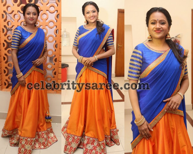 Suma Orange Half Saree
