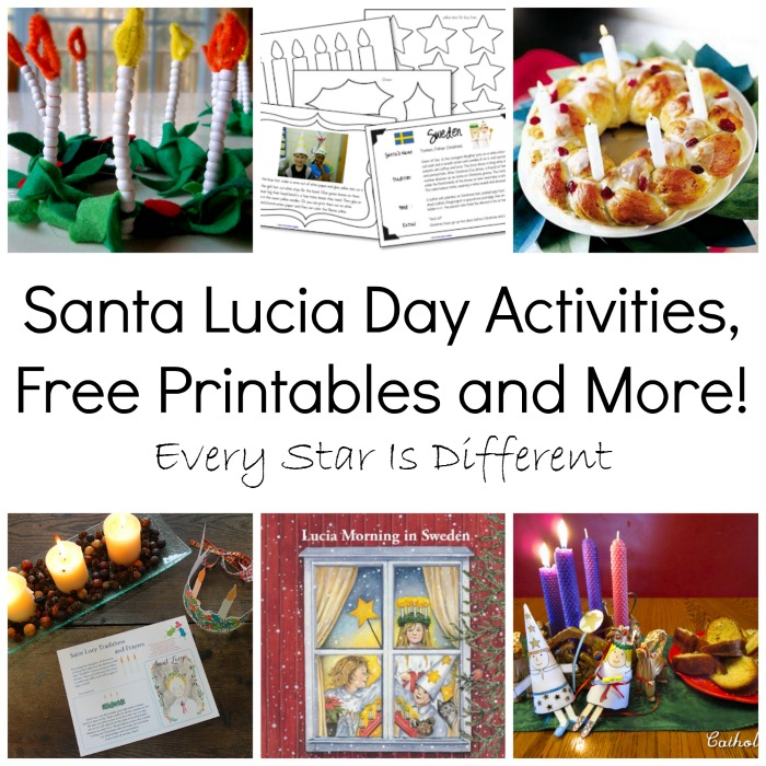 Santa Lucia Day Activities, Free Printables and More!