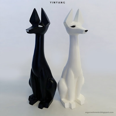 Yin Yang Mini Pharaoh Hound Resin Figure Set by Argonaut Resins