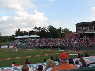 First pitch, Intimidators vs. Shorebirds