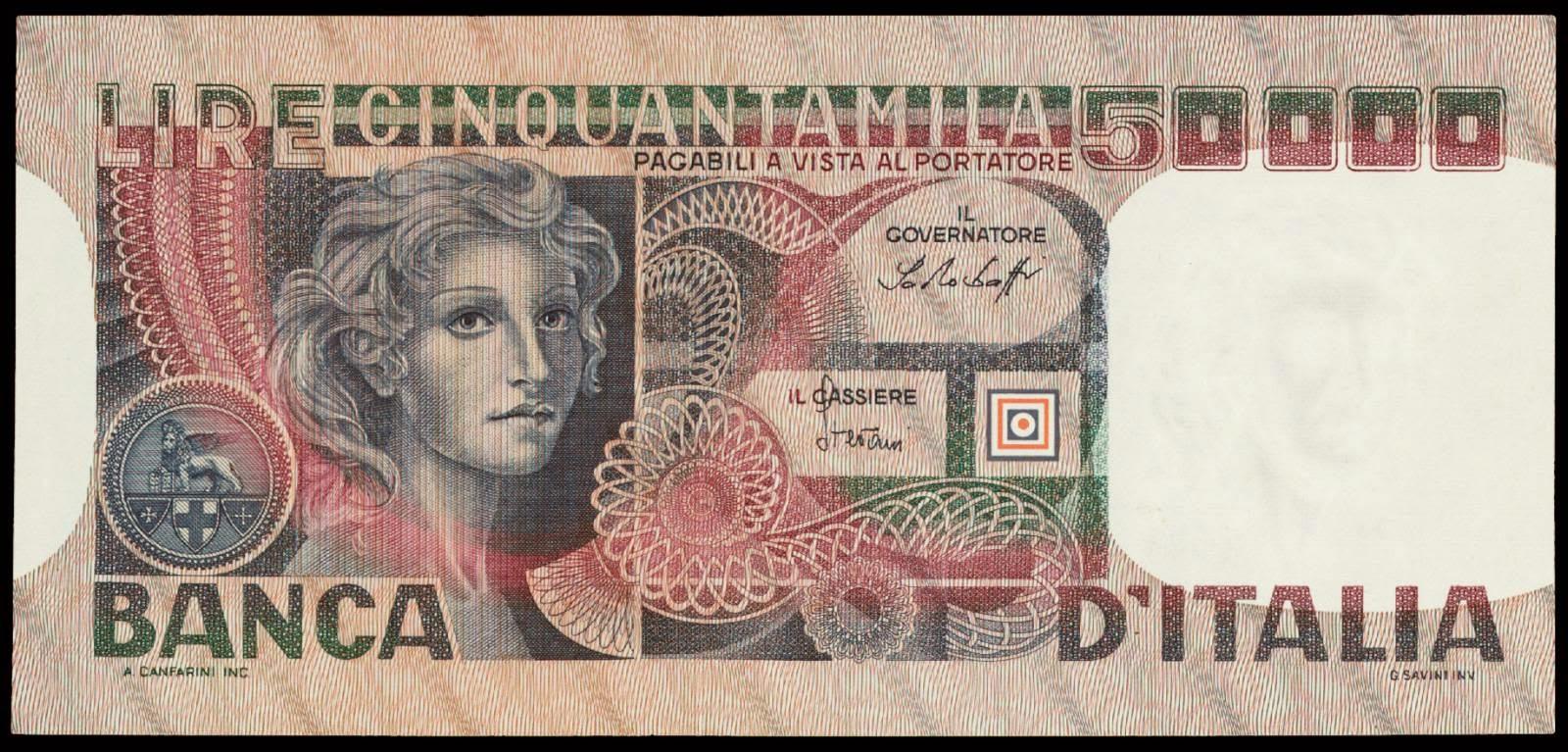 Italy banknotes 50000 Lire