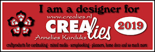 www.all4you-wilma.blogspot.com I am a designer for Crealies 2019
