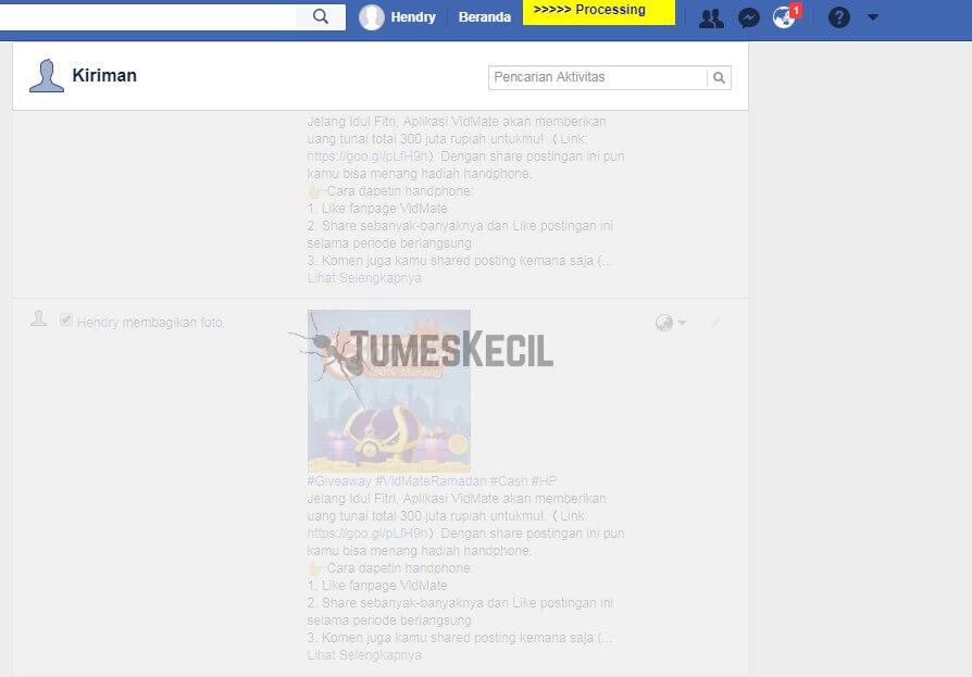 3 Cara Menghapus Semua Status Foto Facebook Sekaligus Tumeskecil