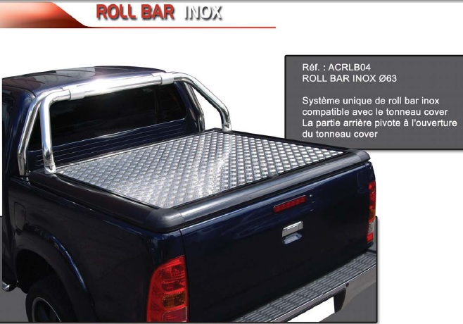 roll bar inox 63 compatible t cover upstone volkswagen made in. Black Bedroom Furniture Sets. Home Design Ideas