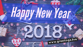 Smart new year graphic card 2018