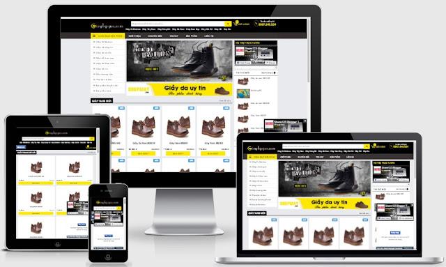 Templates blogspot bán giầy gia chuyên nghiệp