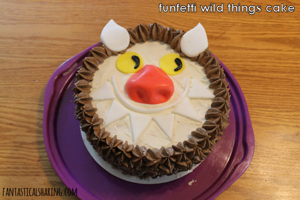 Funfetti Wild Things Cake #dessert #cake #decoratedcakes #wildthings