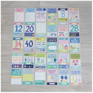 Personalized Milestone Pregnancy Cards