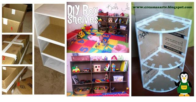 Come fare un mobile o una libreria con cartoni riciclati for Creare mobili