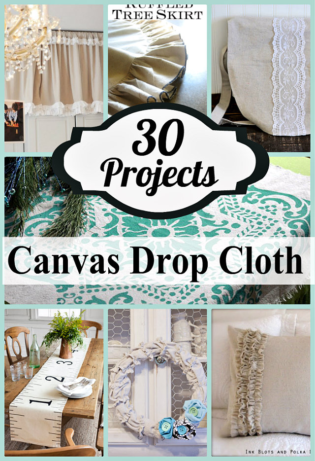 30 things to make with drop cloths crafting in the rain for Things to do with mini canvases