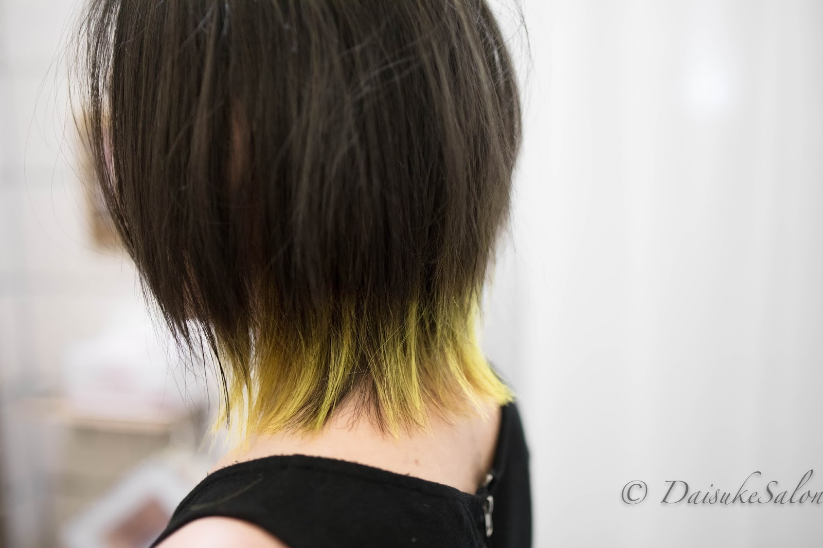 Welcome Colour Player , Balayage Ash Brown with Yellow Ends