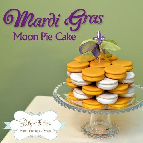 Mardi Gras Moon Pie Cake Belly Feathers Handmade