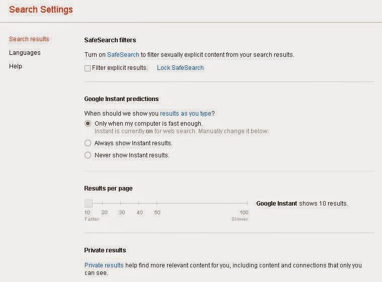 Setting 100 Hasil Pencarian Google