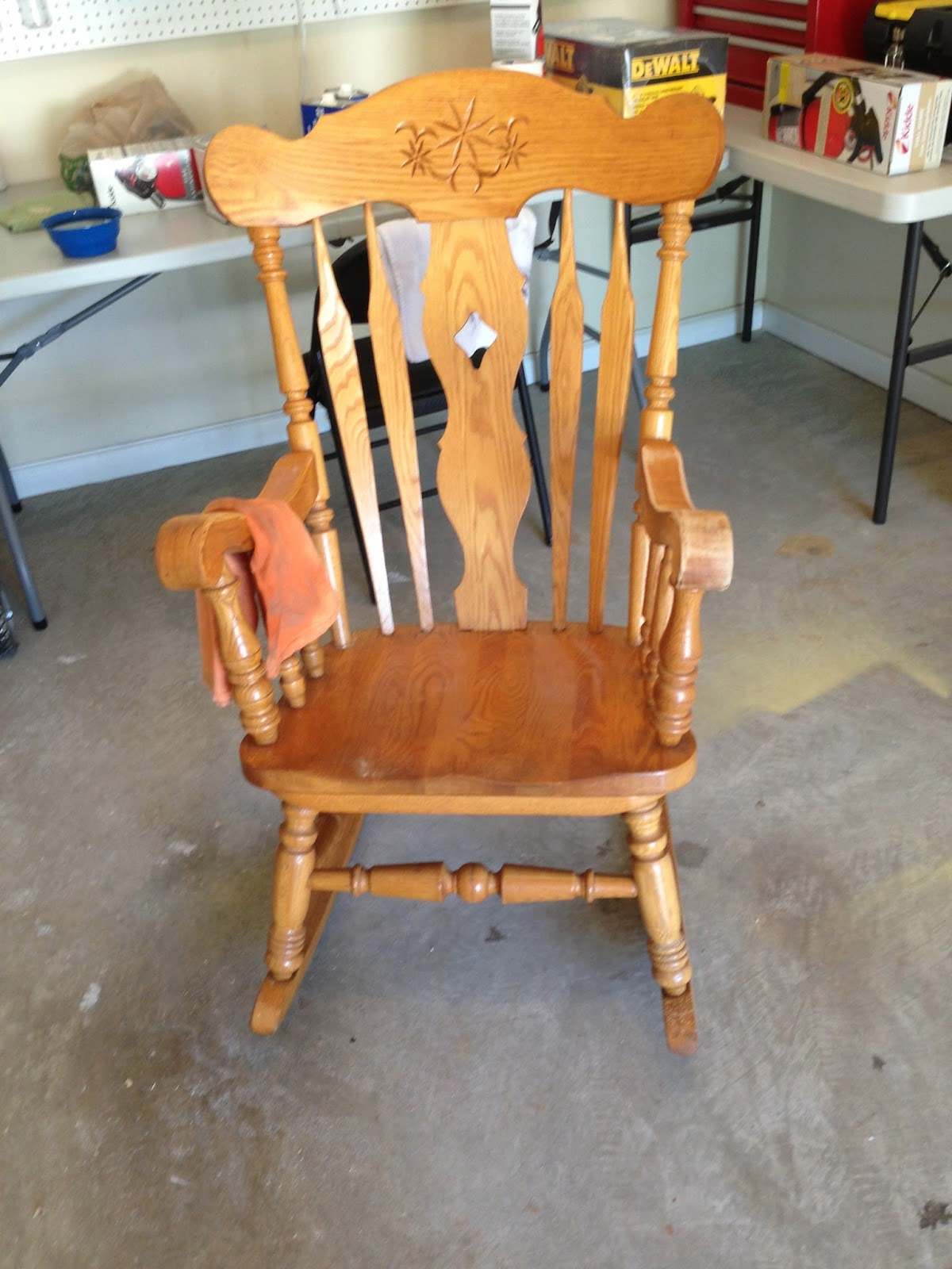 The Lovely Prelude Recipe For Cleaning Up An Old Rocking Chair