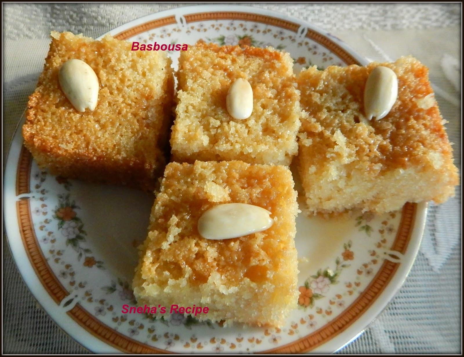 Egyptian Semolina Cake Recipe