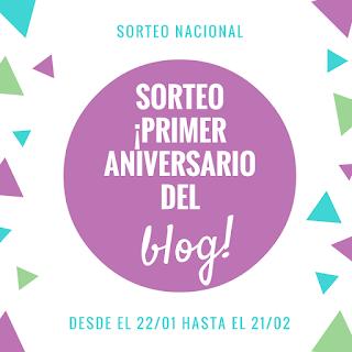 🎈Primer aniversario del blog 🎉🎊 | SORTEO NACIONAL 🔜 |