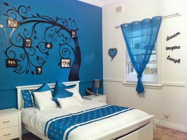 desain kamar tidur sederhana Sky Blue Bedroom