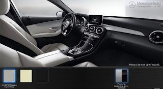 Nội thất Mercedes C200 2016 màu Xám Crystal 118