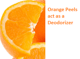 Orange Peels act as a Deodorizer - Oranges citrus fruit peel (Santre Ke Chilke)