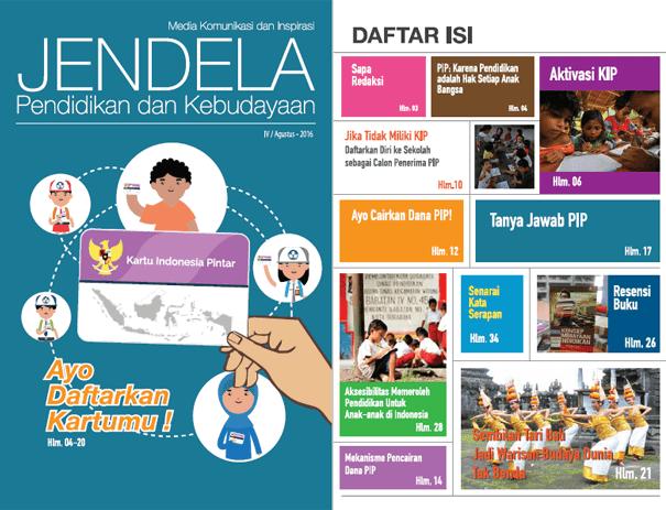 Informasi Lengkap PIP (Program Indonesia Pintar) dan KIP (Kartu Indonesia Pintar) dalam Majalah Jendela Kemendikbud
