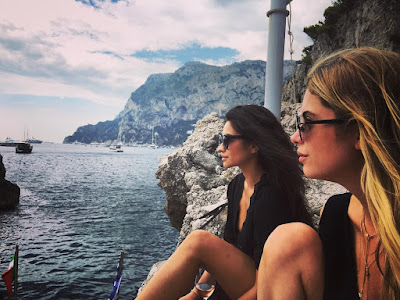 Buttahbenzo Ashley Benson and Shay Mitchell share pasta in Capri, Italy for Troian Bellisario's bachelorette party #bellisariogetsbooted