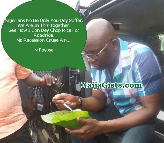 fayose eating rice buka