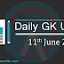 Current Affairs: Daily GK Update 11th June 2017