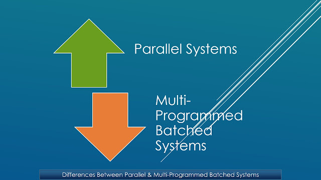 What are parallel and multiprogrammed batched systems? What are the differences between parallel and multi-programmed batched systems?