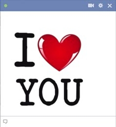 I Love You Facebook Emoticon