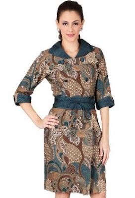 Blus batik modern blus katun elegan