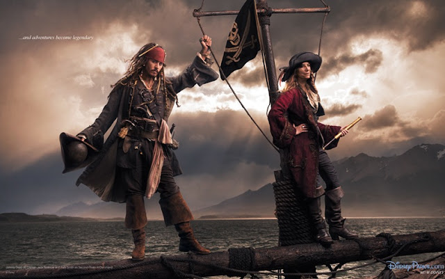 Johnny Depp como  Jack Sparrow e o cantor Patti Smith como o Segundo Pirata no Comando.