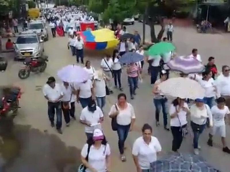USO marchó firme con el Catatumbo