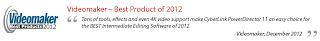 Videomaker PowerDirector Testimonial