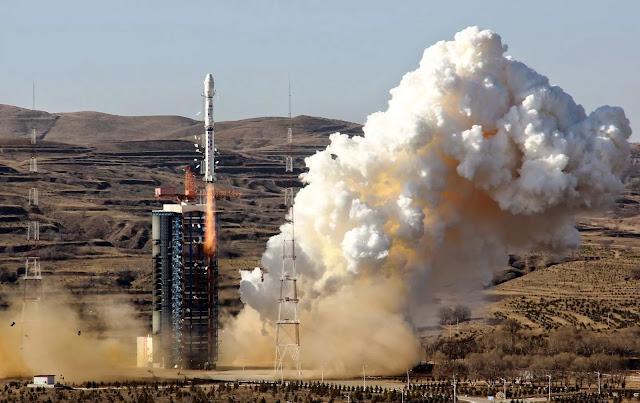 Lançamento do satélite brasileiro de Tayuan