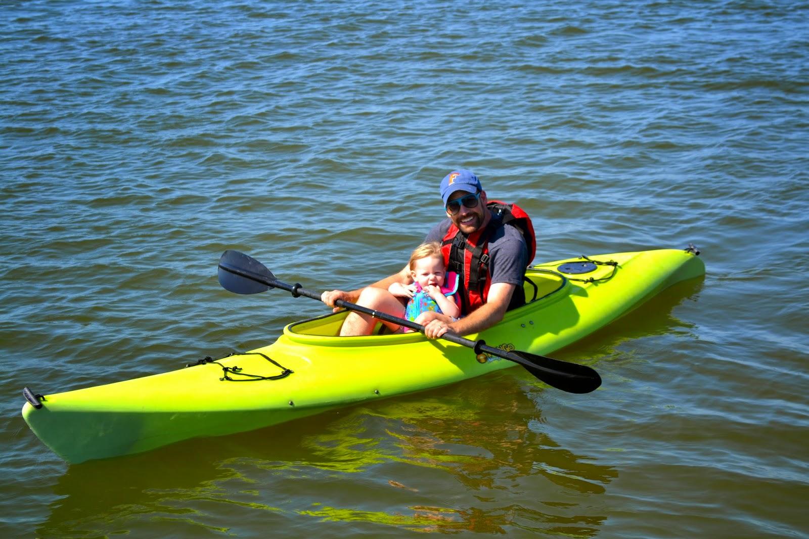 Bekahs First Kayak Ride With Daddy