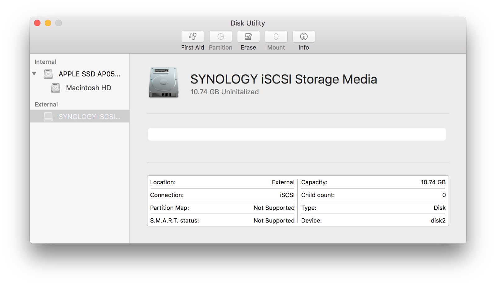Using iSCSI to store your Apple Photos library on a Synology NAS