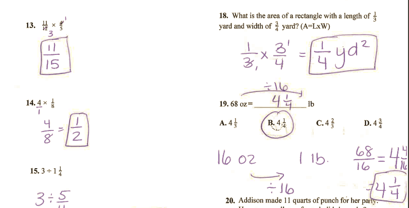 Grade 6 Math with Ms. Eringis : Review Sheet Chapter 4 Test