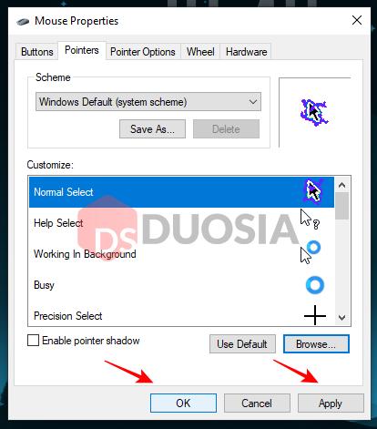 ganti kursor windows 10 dengan gambar