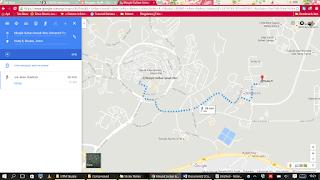 Jarak Masjid UTM ke Kolej 9