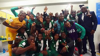 Nigeria U-17 team and Coach
