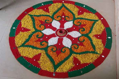 New Rangoli Images in Colorful Design