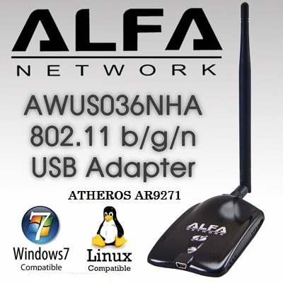 Alfa AWUS036NHA Wireless-N Atheros AR9271 802 11n USB Wi-Fi adapter